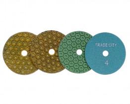 Алмазные гибкие шлифовальные круги Гайка Pads 4-STEP 100D комплект