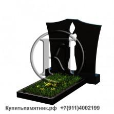 Памятник из гранита Семейный со свечой 100/50/8