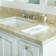 Столешница для ванной комнаты из мрамора Имперадор Лайт