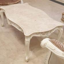 Стол резной из мрамора Crema Nouva