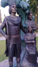 Скульптура из бронзы Царь Салтан ,Царица и сын Гвидон