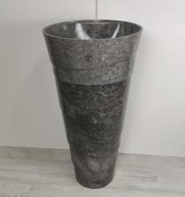 Раковина из мрамора напольная Pedestal Grey Spiral