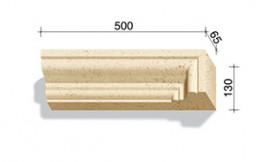Угловой элемент для наличников и карнизов White Hills Тиволи 500*65*130