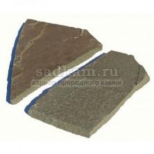 Камень природный. Серо-зеленый камень. Толщина 1,4-1,9 см