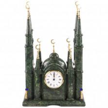 """Часы """"Мечеть"""" из змеевика большая"""