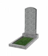 Памятник экономный вертикальный 800*400*50 (Китай, светло-серый К03)