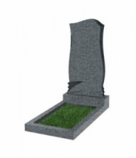 Памятник экономный вертикальный 800*400*50 (Китай, темно-серый)