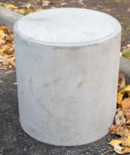 Бетонный столбик, d450xh450 мм. (парковочный ограничитель)