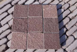 Брусчатка из натурального камня бордо 10*10 , 10*20 , 20*20