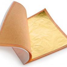 Поталь листы золото, 14х14см (25шт)