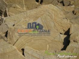 Камень Плашка желтая с разводами 4 см