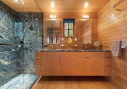 Ванная комната из камня гранит Азул Бахия
