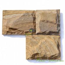 Плитка из тигрового песчаника 20 см*L толщ 3 см
