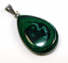 Кулон из натурального камня. Малахит