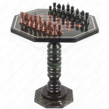 Шахматный стол из камня Серпентина и Лемезида