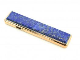 Зажигалка USB с накладкой из лазурита 86*20*10мм