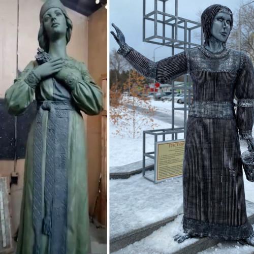 В Воронежской области показали памятник Аленке - 2.0